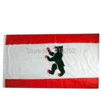 State Service Flag Of Berlin German Flag 3x5 FT 150X90CM Banner 100D Polyester Flag Brass Grommets