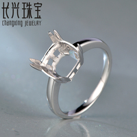 8 5MM Cushion Cut 14K White Gold Semi Mount Engagement Ring Setting For Free Shipping