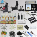 OPHIR 346pcs Professional Complete Tattoo Kit 2xTattoo Gun Machine with 12x10ml Colors Tattoo Inks Pigment Grip Needles _TA070