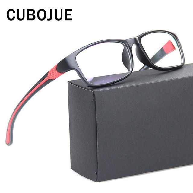 7c27b7452d3 Cubojue Sport Eyeglasses Men Women Ultra-light Fashion Glasses for  Prescription Spectacles with Optical Lens