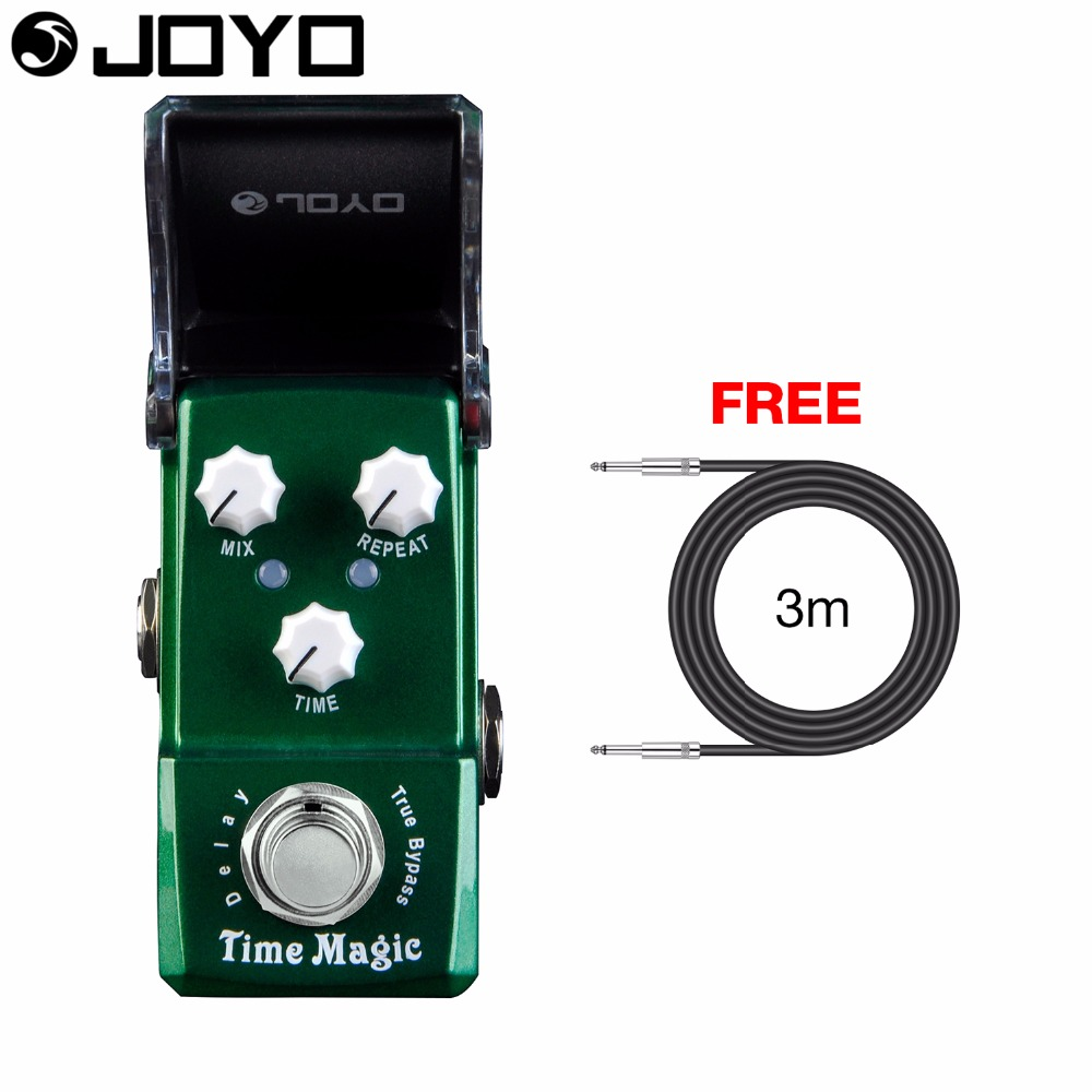 Joyo Time Magic Delay Electric Guitar Effect Pedal True Bypass JF-304 with Free 3m Cable joyo ironman at drive overdrive electric guitar effect pedal true bypass jf 305 with free 3m cable