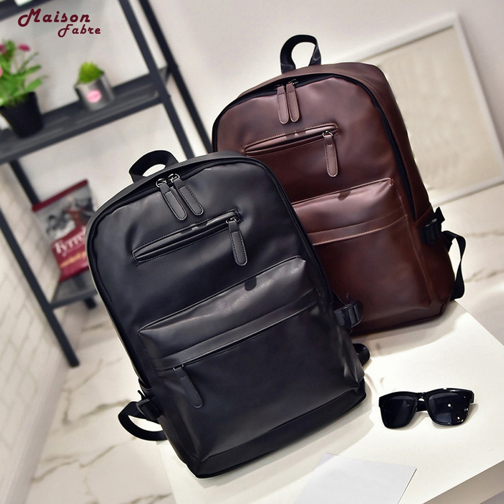 Best Deal Bag Neutral Leather Backpack Laptop Satchel Travel School Rucksack Bag drop ship _E15