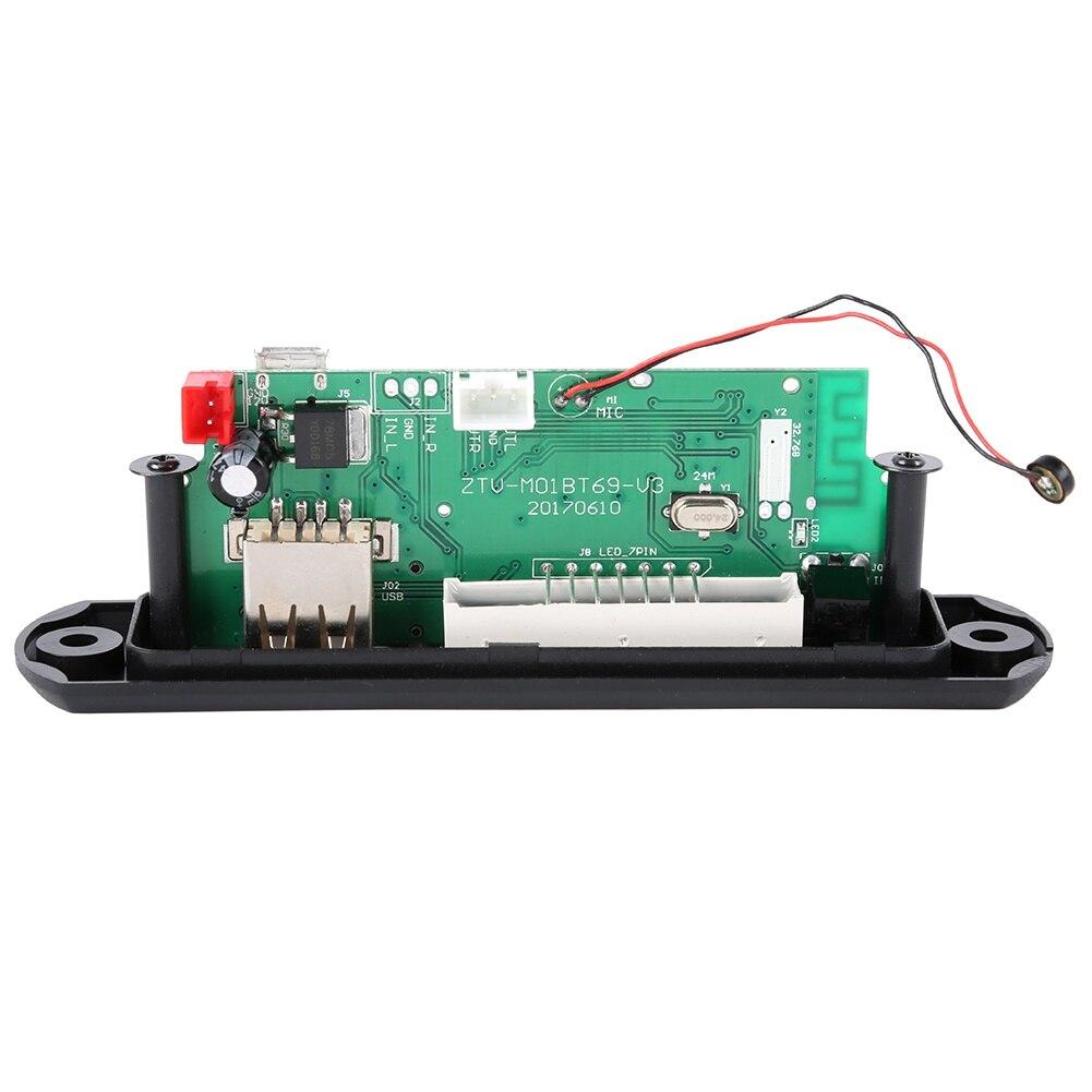 12 В 5 в беспроводной Bluetooth Micro usb-микрофон 3,5 мм AUX FLAC MP3 TF радио WMA декодер плата аудио модуль USB для автомобиля
