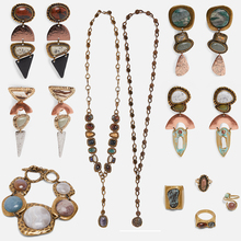 Girlgo New Za Stones Limited Edition Contrasting Bead Dangle Earrings For Women Boho Metal Vintage Pendant Earrings Girl Jewelry