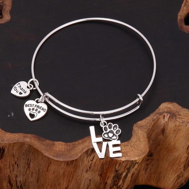 Conosciuto Gioielli alla moda regolabile espandibile wire amore forma zampa  IA61