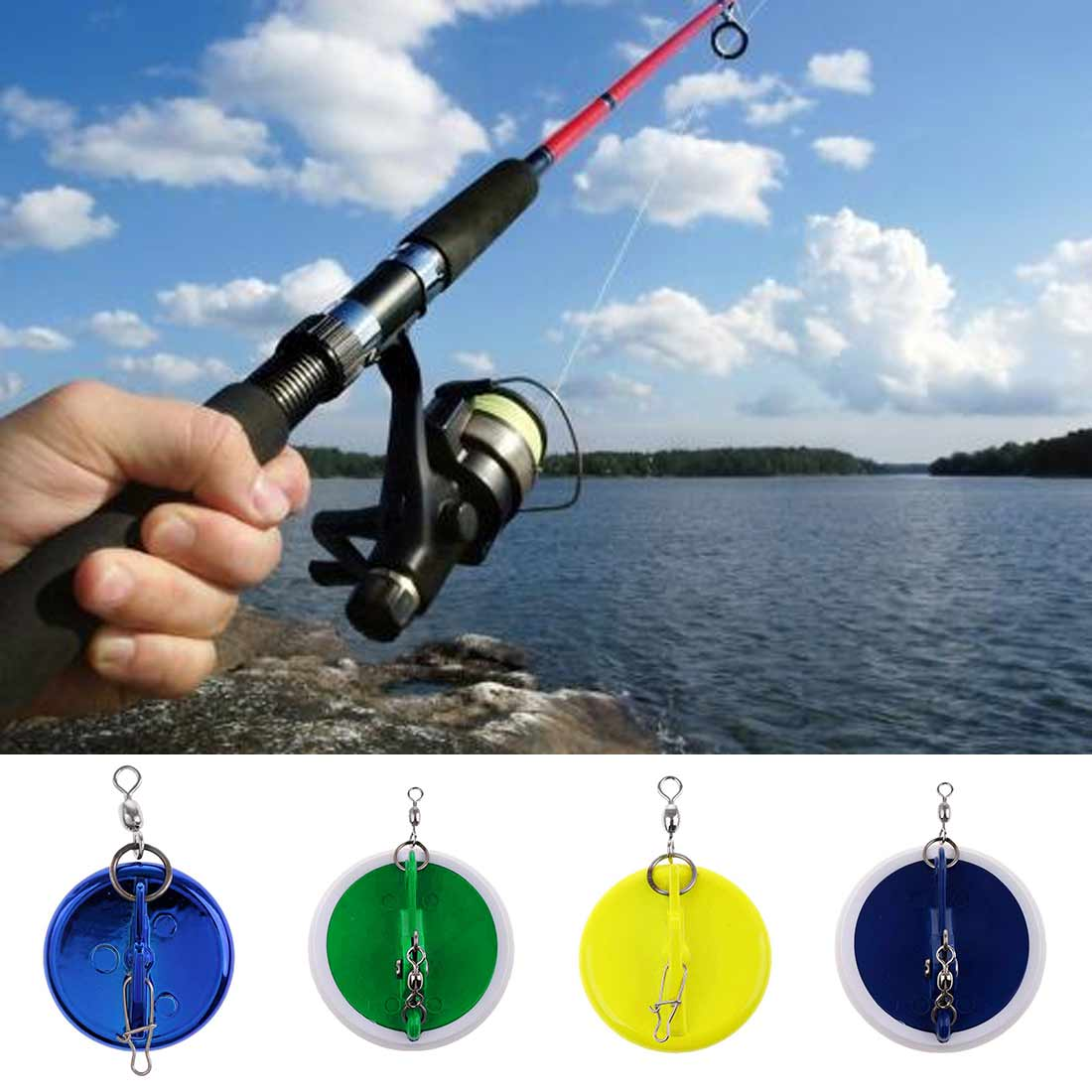 Fishing Trolling Disc With Lead Weight Sinker ConnectorSinker Connector Fishing Trolling Disc Fishing Tackle Accessorie