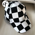Black White Striped Grid Plaid Baseball Cap Hip Hop For Women Man Polo Dad Casquette Polo Hat Bone Chapeau Bone Gorra Snapback