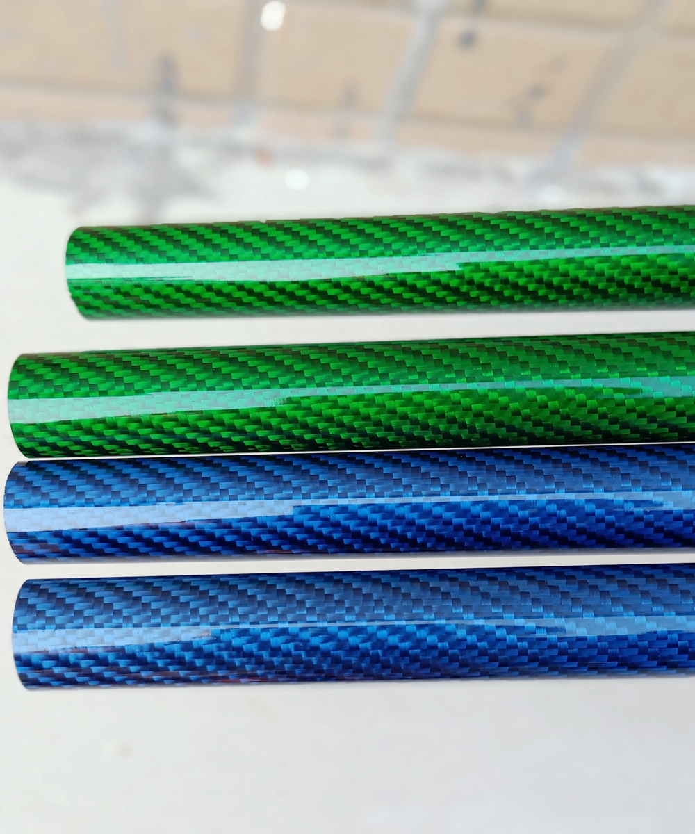 Color Real Carbon Fiber Tube4
