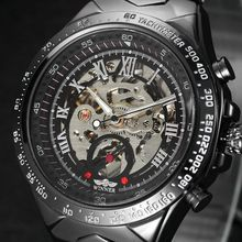 Automatic Self-wind Mechanical Wristwatches Men 's Watch Luxury Famous Brand Stainless Steel Skeleton Watch Men Outdoor Clock