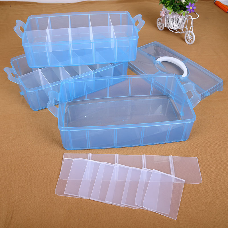 3 Layers Nail Desktop Storage Box Plastic Scissors Makeup Tools Jewelry Nail Polish Pen Brushes Boxes Container Manicure Tool