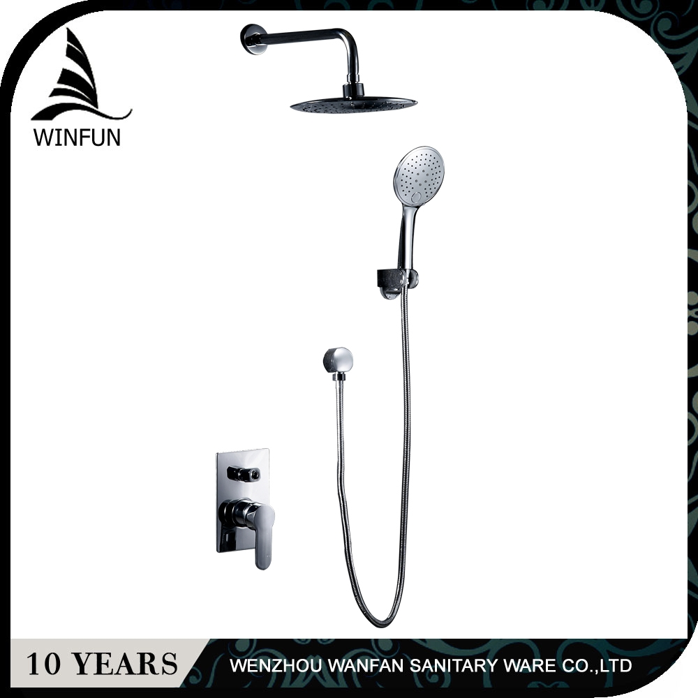 Concealed Shower Wall Mounted Concealed Bathroom Rainfall Shower Set Hot And Cold Faucet With 8