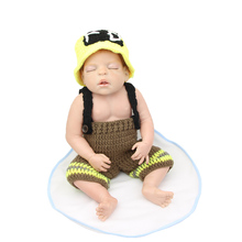 Collectible Reborn Baby Dolls Sleeping Full Body Silicone Newborn Babies Dolls 55CM /22Inch Kids Christmas Birthday Gift