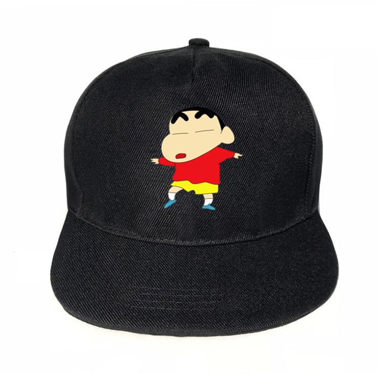 Hot Anime Crayon Shinchan Boy Girl Student Couple Cap Cute Two Dimensions Hip Hop Street Style Cosplay Party  Gift High Quality.