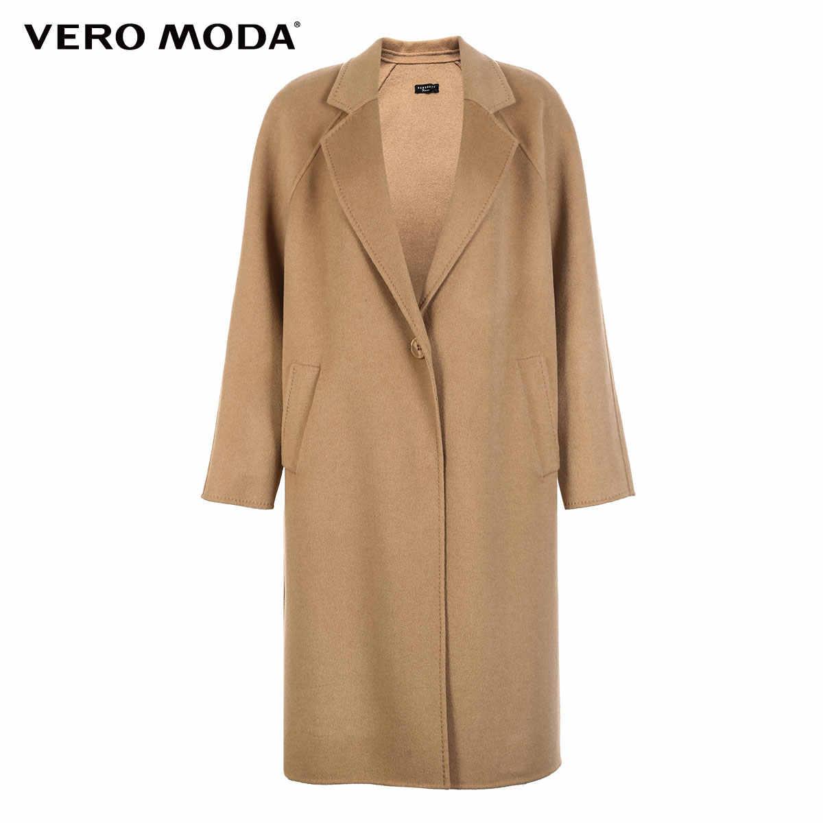 Vero Moda женское новое 100% шерстяное двухстороннее пальто с одной пряжкой в минималистическом стиле | 318327505