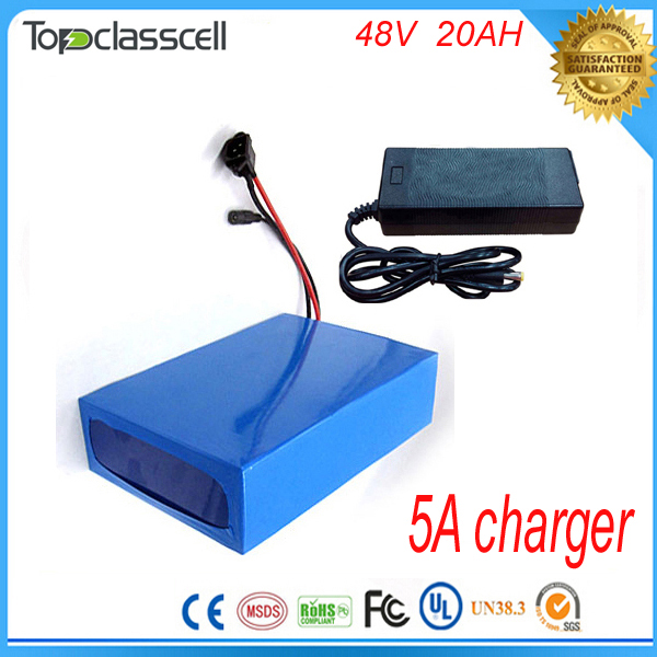 Fast 5A charger 48v 20ah lithium ion battery 48v 1000w ebike lithium battery pack For 48v 8fun bafang bbs01 bbs02 bbs03 motor  12v 200ah rechargeable lithium battery pack for ebike storage energy or solar power and ups with 5a fast charger
