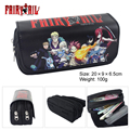 Anime Fairy Tail Double Layer Zipper Pen Bag Pencil Case Toy Gift Kids School