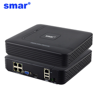 Smar 48V POE NVR 4 Channel Mini NVR Full HD Standalone Hi3515C 1920 1080P ONVIF For