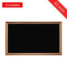43 pulgadas marco de madera de quiosco de publicidad LCD Pantalla de pantalla digital de marco de foto de museo tipo
