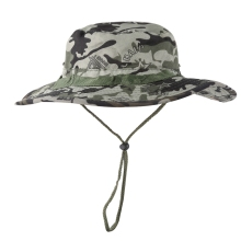 Bucket Hat Casual Style Adjustable Packable Foldable Sunshade Cotton Blend Fisherman Sun Cap with Chin Strap