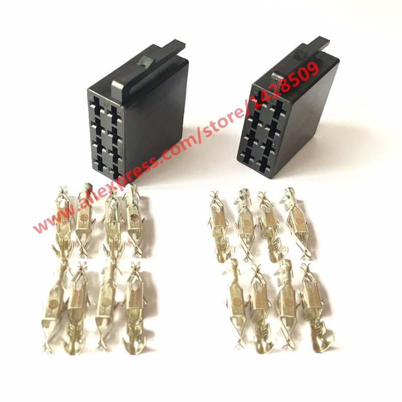 20 Sets Universal Car Radio ISO Connector Female 10487 Car Radio Connector Adaptor Plug Use For Wire Harness