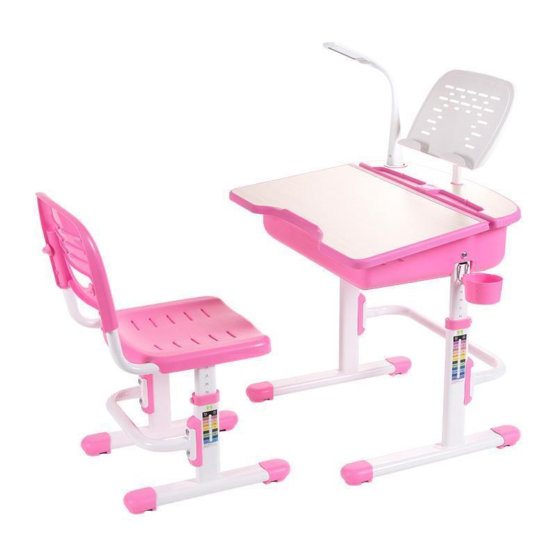 Children 's study table and chair set can lift desks pupils work anti - myopia desk kid s box 2ed 5 pupils bk