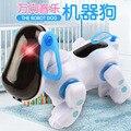1 PC Cor aleatória Adorável Adorável Azul Inteligente Robótico Curta Eletrônico Cachorro Crianças Amigo Parceiro Brinquedo com Música e Luz
