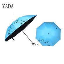 YADA Dropshipping Cartoon Cute Custom Folding Umbrella Rain Women uv Black Coating Womens Friendship Umbrellas YS078