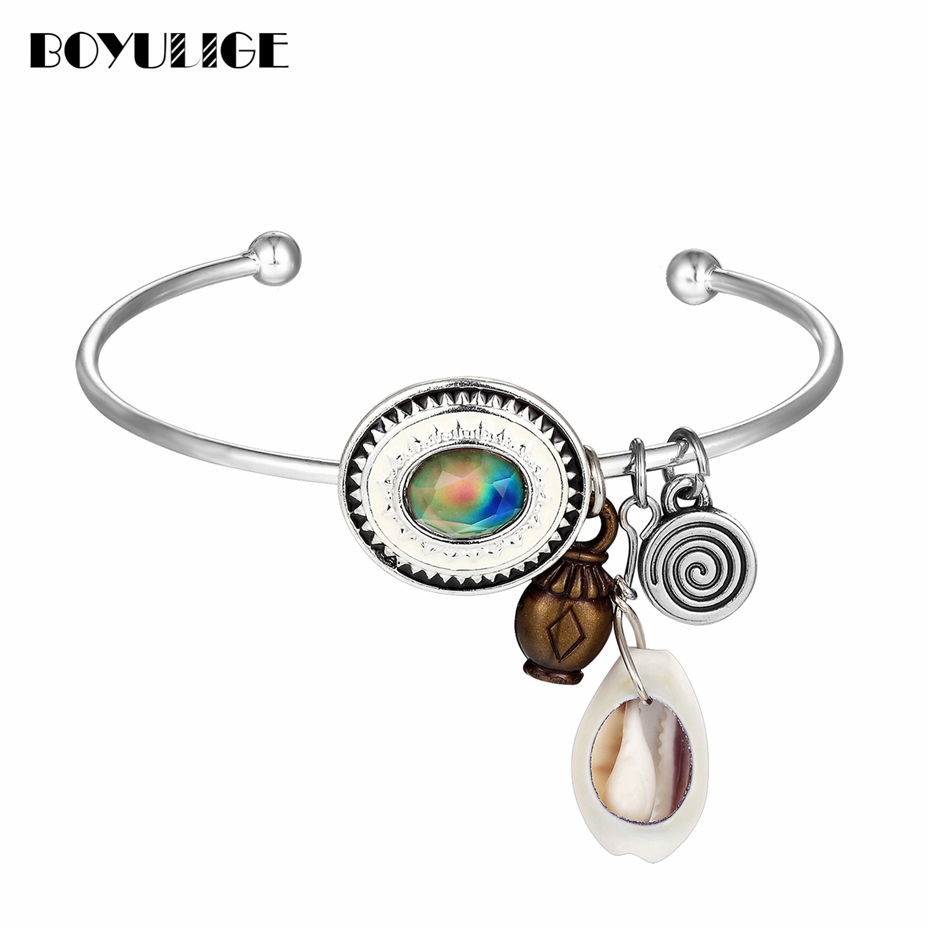 BOYULIGE ajustble bohemia bangle bracelet for women & best friend fashion vintage jewelry diy bracelets & bangles christmas gift