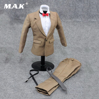 1/6 Scale Gentleman Clothes Suit Khaki Color Suit & Shirt Pants & Tie for 12'' Male Action Figure Body