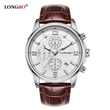 New LONGBO Men's Watch Forious Multifunction SportsOutdoor Watches Quartz Stainless Steel Wristwatch Male Masculino 5003 Gift