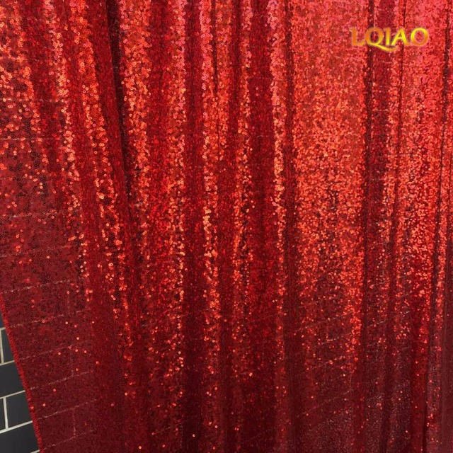 4ftx6ft red sequin backdropsglitter sequin curtainwedding photo booth backdropphotography background