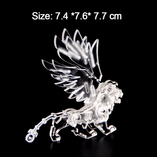 3D DIY Acrylic Puzzles Manually Assembled Merlion Animal Adults Big Boys Birthday Gifts Educational Collection Toys