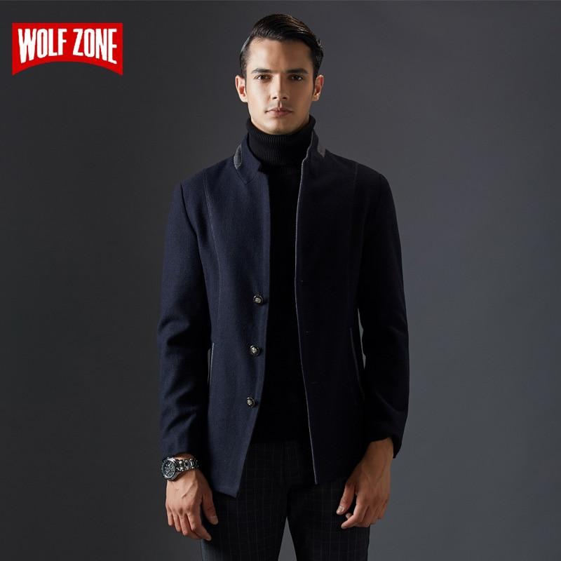 Men Coat Casual Jacket Trench Business Wool Designer Winter Fashion Brand Windbreaker