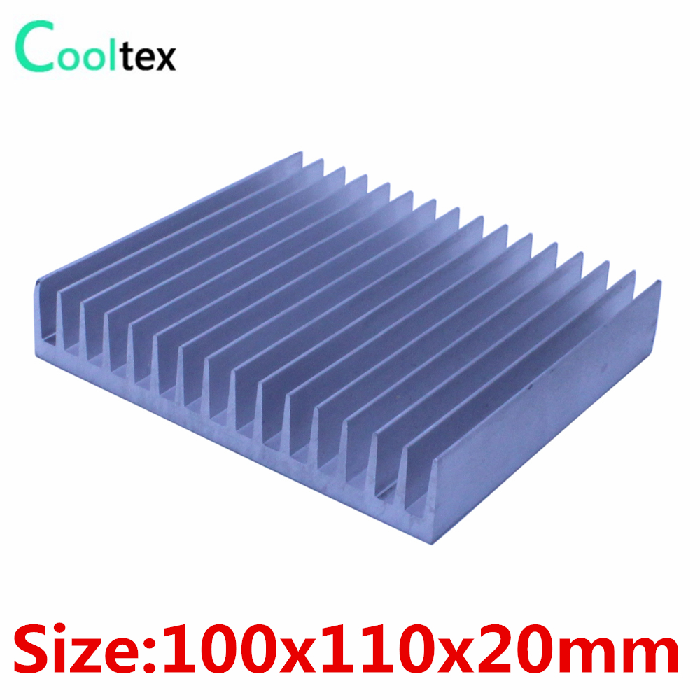 100x110x20mm Aluminum HeatSink Heat Sink radiator for electronic  LED COOLER cooling 1 pcs aluminum radiator heat sink heatsink 60mm x 60mm x 10mm black