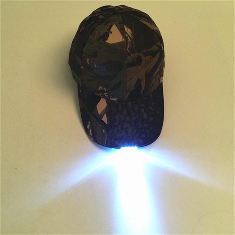 LED Lamp   Baseball     Cap   Camouflage Night Fishing Hat Outdoor Lighting Alpine   Cap   Duck Tongue Mountain Climbing Hip Hop Snapback