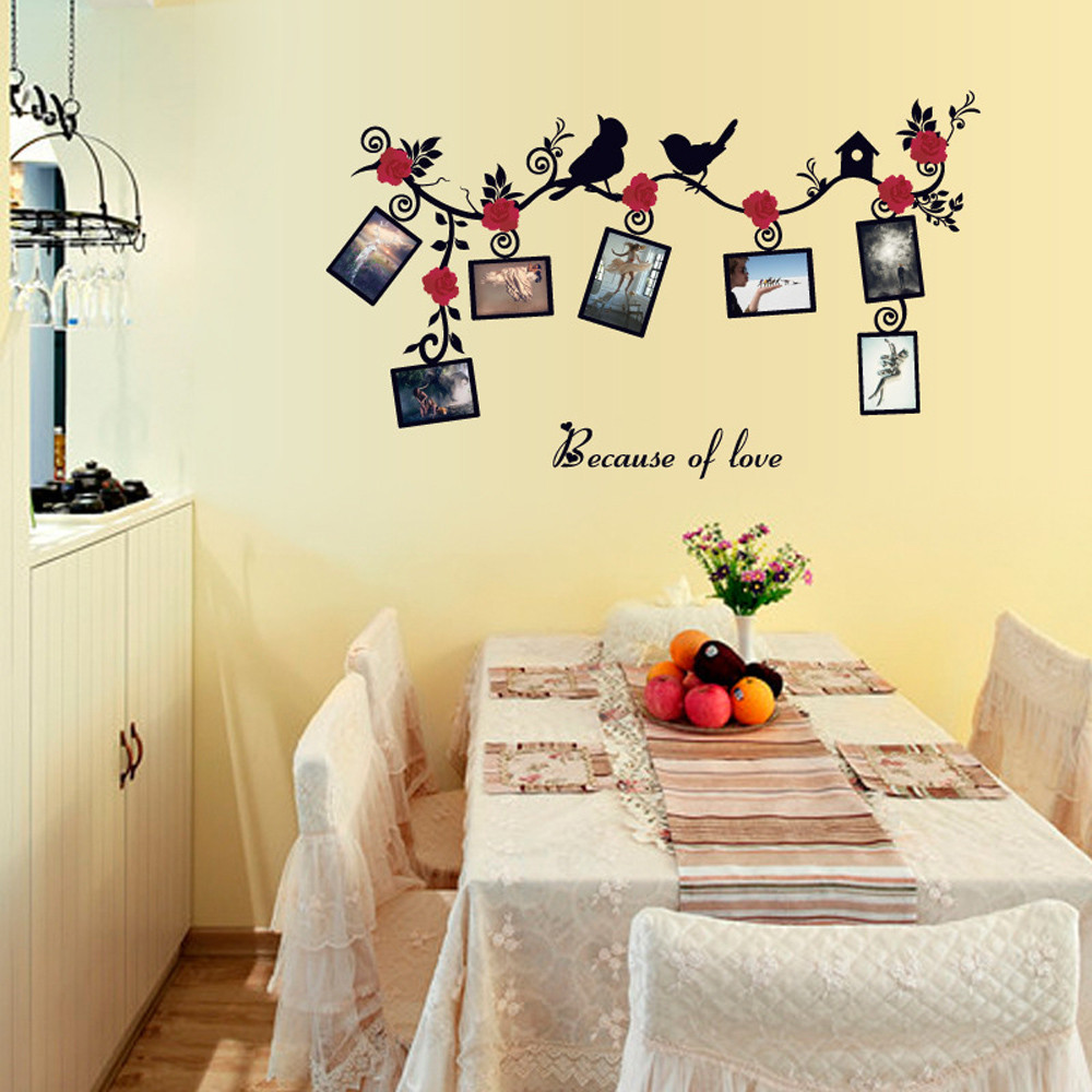 Removable Bird Photo Wall Stickers Decals Art Mural Vinyl Home Room Decor DIY Wall Stickers For Kids Rooms adesivo de parede