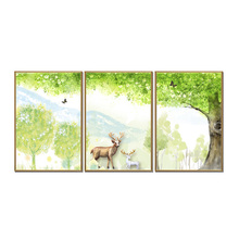 Factory wholesale (No Framed) Nordic Elk Series Canvas Print On Printing Wall Pictures 12YM-A-717