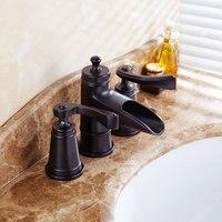 European Gold Black Leading Diamond Handle Hotel Villa High Grade Bathroom Accessories Three Main Faucet Bathroom
