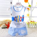 2016 Fashion Children Baby Boys Clothes Kid's T-shirts Set Summer Blue Pink Undershirt Clothing Cotton Short T-Shirt +Pants Sets