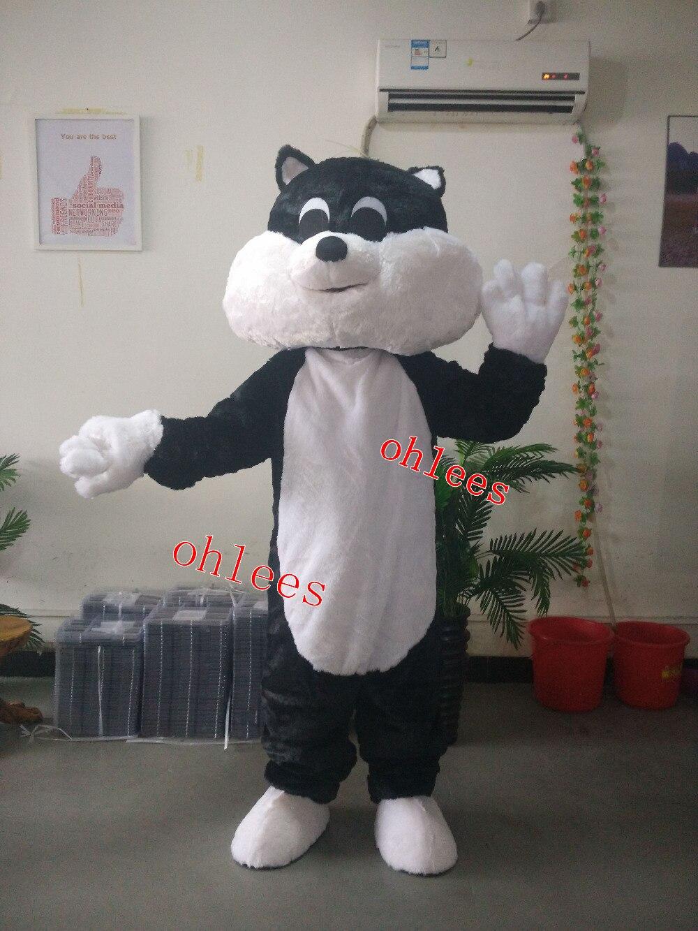 Ohlees joli chat mascotte costumes personnaliser fête anniversaire cosplay cadeau jouet animal tête halloween mascotte costume