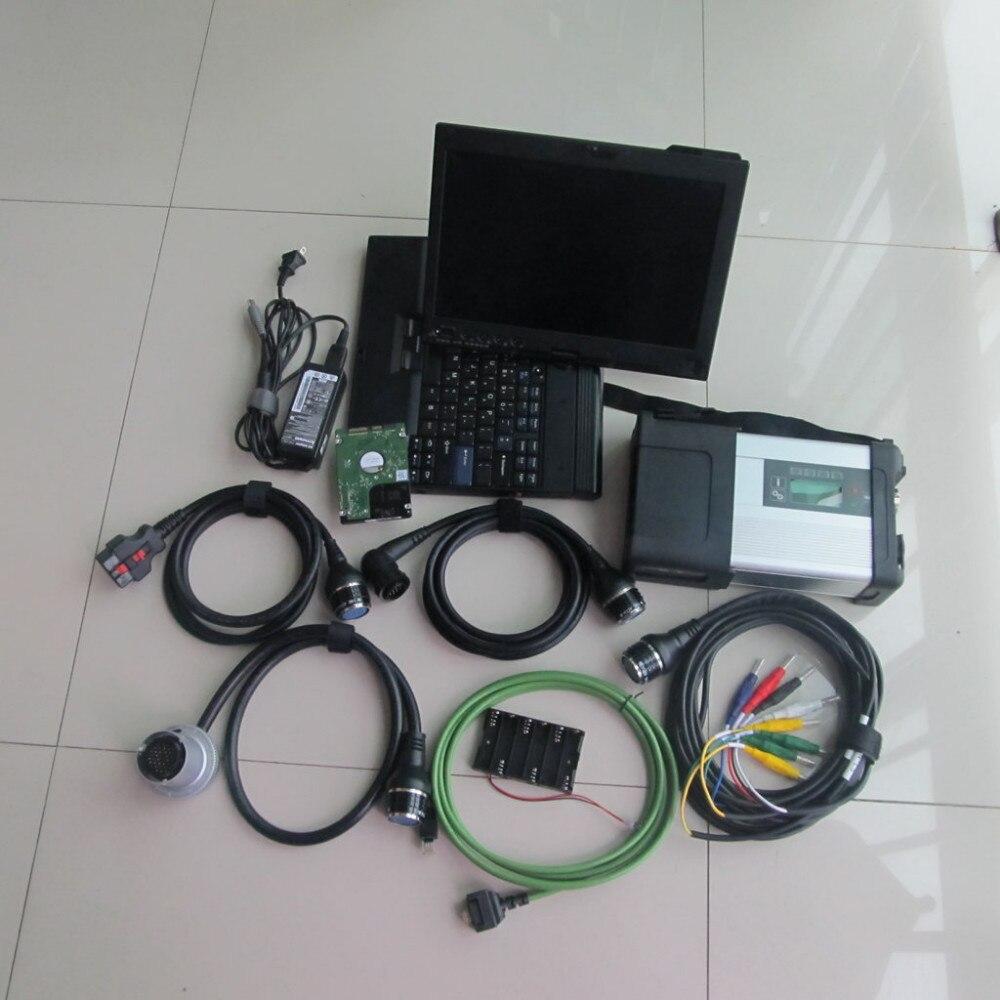 DHL gratuit multi-langues MB Star C5 MB SD connect compact 5 avec X200 ordinateur portable + 2019.3 logiciel 320 GB hdd meilleure qualité