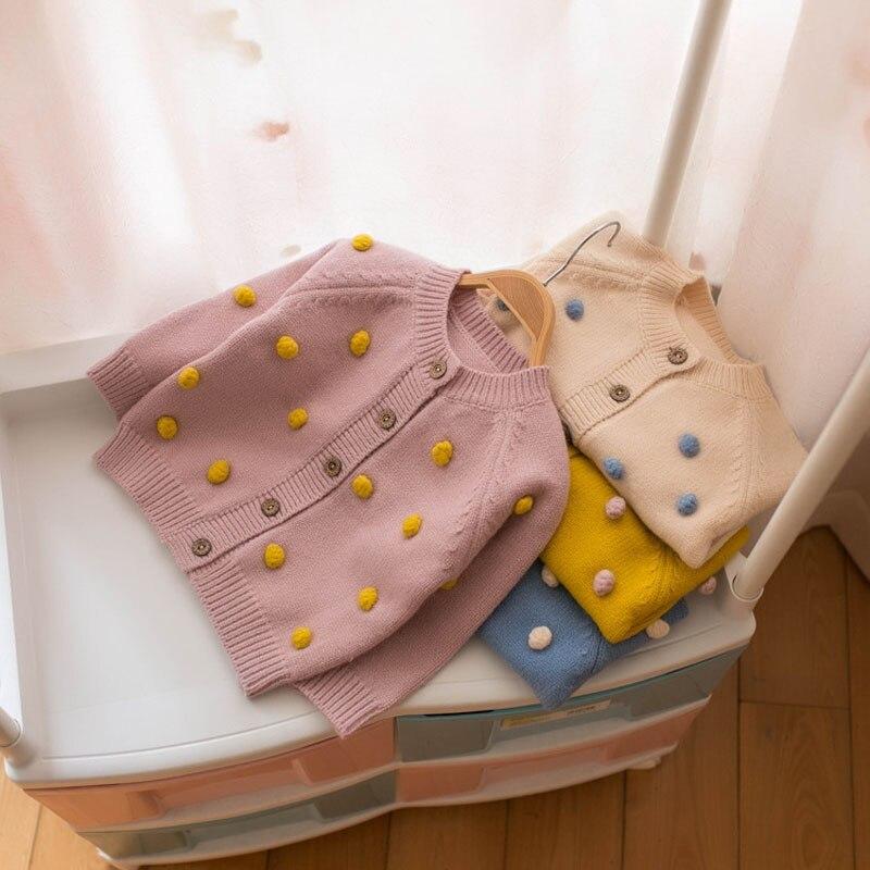 MILANCEL Autumn New Kids Sweaters Fashion Girls Knit Wear Prom Girls Cardigans