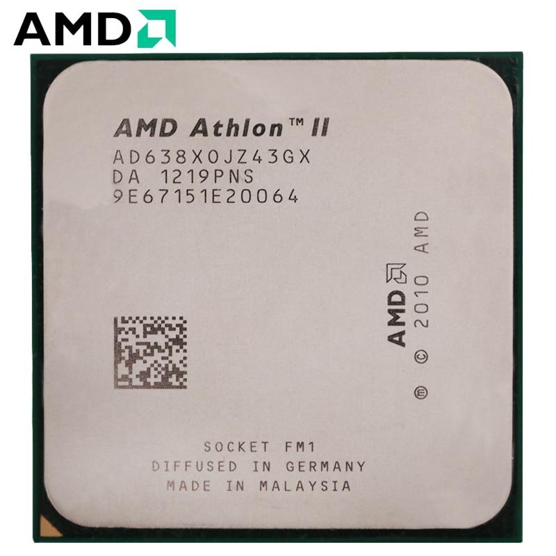 AMD Athlon II X4 638 Socket FM1 65W 2.7GHz 905-pin Quad-Core CPU Desktop Processor X4 638 Socket Fm1