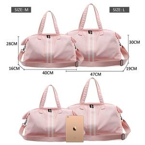 Image 5 - Gym Bag Women Travel Bags Training Fitness Dry Wet Bag Handbag Yoga Mat Men Shoulder Sac De Sport For bolso Canvas 2019 XA766WA