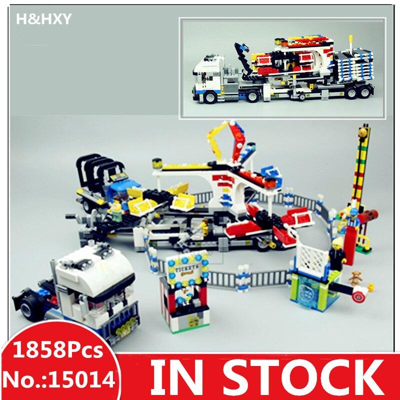 H & HXY 15014 1858 шт. парк развлечений карнавал модель здания Конструкторы комплект архитектура Лепин самодельные игрушки подарки
