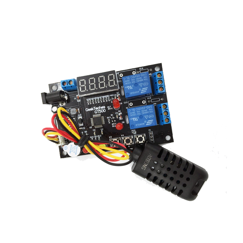 5V Digital Intelligent Temperature Humidity Controller Relay Thermostat