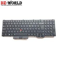 New Original for Lenovo Thinkpad P50 P70 UK English Keyboard Backlit Backlight Teclado 00PA317 SN20K85143