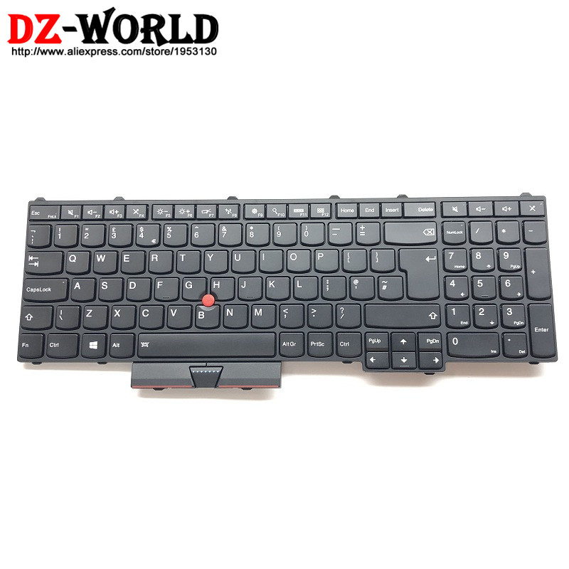 New Original for Lenovo Thinkpad P50 P70 UK English Keyboard Backlit Backlight Teclado 01AP317 SN20K85143 цена