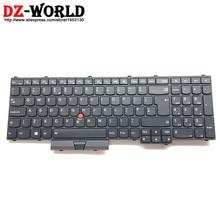 새로운 레노버 씽크 패드 p50 p70 영국 영어 키보드 백라이트 백라이트 teclado 00pa317 sn20k85143