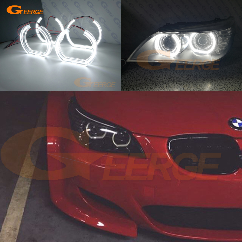For BMW 5 SERIES E60 E61 LCI 525i 528i 530i 545i 550i M5 2007-2010 Xenon headlight DTM Style Ultra bright led Angel Eyes kit for bmw 5 series e60 e61 lci 525i 528i 530i 545i 550i m5 2007 2010 xenon headlight dtm style ultra bright led angel eyes kit page 3